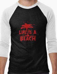 life is a beach Men's Baseball ¾ T-Shirt