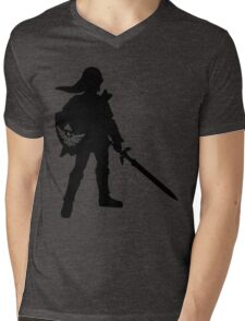 The Legend of Zelda Link Silhouette Mens V-Neck T-Shirt