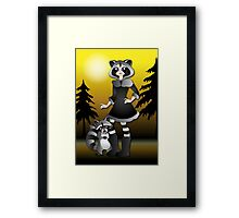 Twisted - Wild Tales: Ayasha and the Raccoon Framed Print