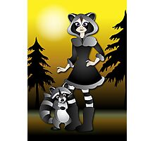 Twisted - Wild Tales: Ayasha and the Raccoon Photographic Print