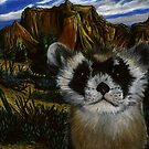 Blackfooted Ferret Portrait by Jedro