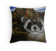 Blackfooted Ferret Portrait Throw Pillow