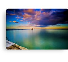 Incoming Storm- Merewether Ocean Baths #2 Canvas Print