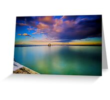 Incoming Storm- Merewether Ocean Baths #2 Greeting Card