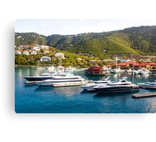 Four Yachts in St Thomas Canvas Print