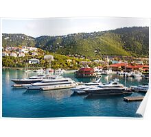 Four Yachts in St Thomas Poster