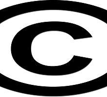 Copyright T-Shirt Unique Symbol Sticker by deanworld