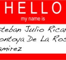 Highlander - Hello my name is... Sticker