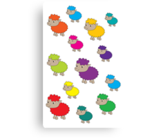 Colourful sheep Canvas Print