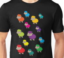 Colourful sheep Unisex T-Shirt