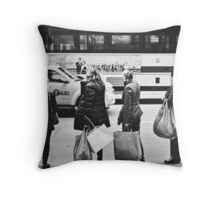 Here is Shopaholic in NYC Throw Pillow