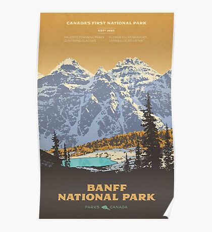 Banff National Park poster Poster