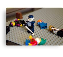 Lego Hockey Player Canvas Print