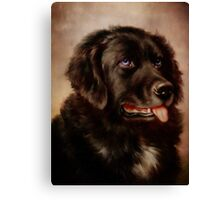 Canine Attachment Canvas Print