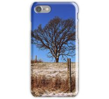Tree with a Fence iPhone Case/Skin