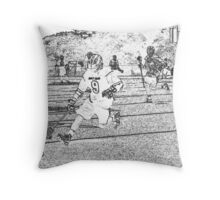 051612 pen sketch  boys lacrosse Throw Pillow