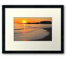 Spanish Point - The Armada at Sunset Framed Print