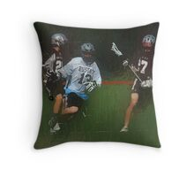 051612 260 0 oil boys lacrosse Throw Pillow
