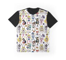 Sailor Moon Doodle - All Sailor Scouts Graphic T-Shirt