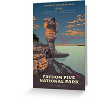 Fathom Five National Park poster Greeting Card