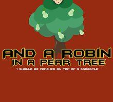 Robin in a Pear Tree - Print by IMTShop