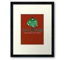 Robin in a Pear Tree - Print Framed Print