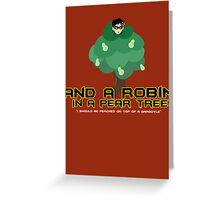 Robin in a Pear Tree - Print Greeting Card