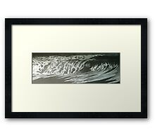 night waves Framed Print