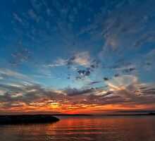 Solomons Island Sunset II - Chesapeake Bay, Maryland USA by Vincent Frank