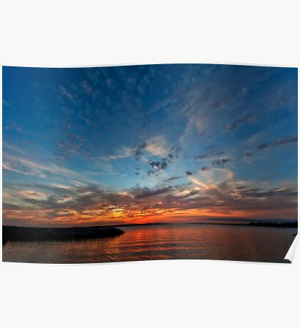 Solomons Island Sunset II - Chesapeake Bay, Maryland USA Poster