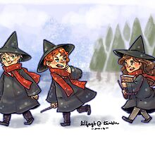 Harry Potter Trio by lilfayt