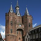 The impressive city gate Sassenpoort by patjila