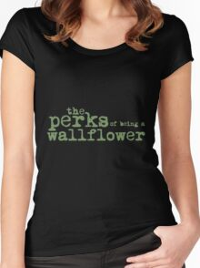 The Perks of Being a Wallflower. Women's Fitted Scoop T-Shirt