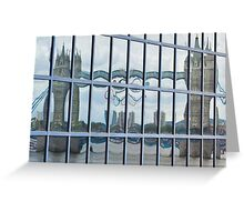 Tower Bridge reflection Greeting Card