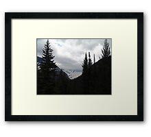 GLACIER THROUGH A FRAME Framed Print