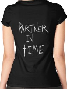 Partner in Time DARK Women's Fitted Scoop T-Shirt