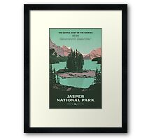 Jasper National Park poster Framed Print