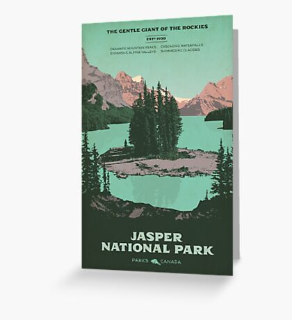 Jasper National Park poster Greeting Card
