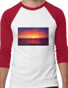 Coastal Summer Sunset WA Men's Baseball ¾ T-Shirt