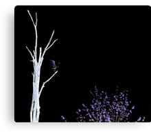 Crane in a Tree Canvas Print