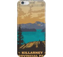 Killarney Provincial Park poster iPhone Case/Skin