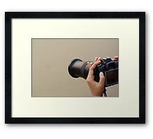 Using a zoom lens and a digital camera and reviewing the results on the LCD Framed Print