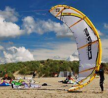 Kiting... by Adri  Padmos