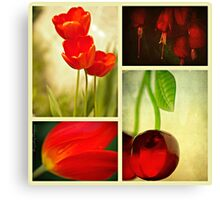 Nature in Red Canvas Print