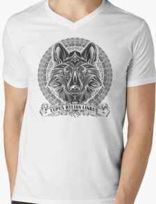 Legend of Zelda Twilight Princess Wolf Link Line Artly  Mens V-Neck T-Shirt