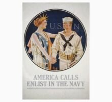 America calls enlist in the Navy Kids Tee