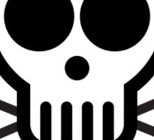 Skull with Crossbones (Black & White) Sticker