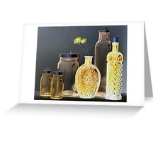Six Bottles Greeting Card