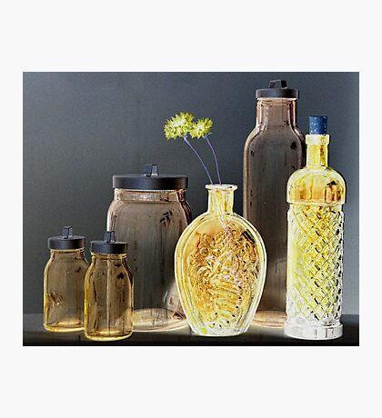 Six Bottles Photographic Print