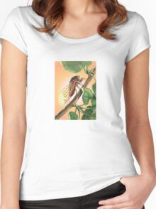 Vector Image of A 17 Year Cicada Women's Fitted Scoop T-Shirt